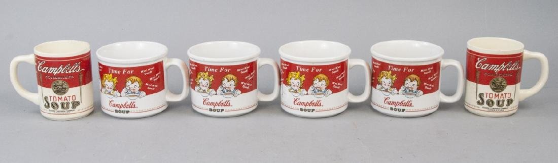 Lot Of Six  Antique & Vintage Campbell Soup Mugs