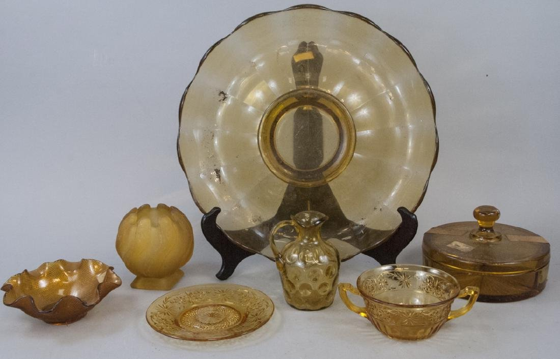 Vintage & Antique Amber Glass Items