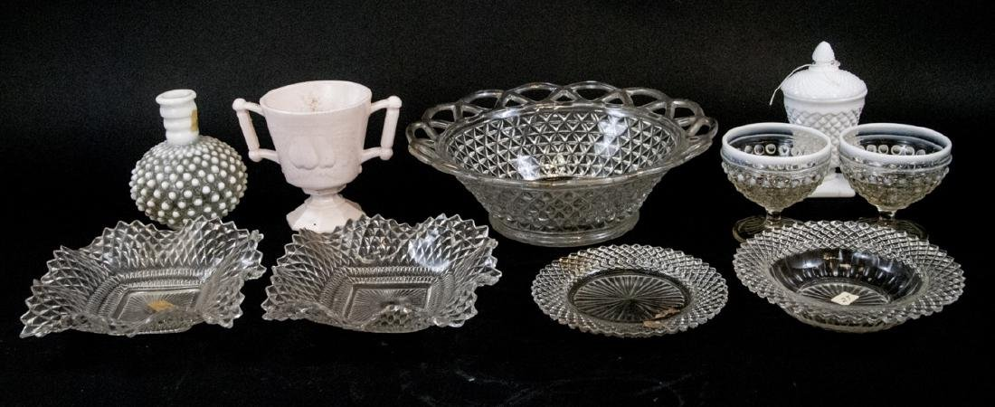 Antique & Vintage Milk, Cut & Hobnail Glass Items