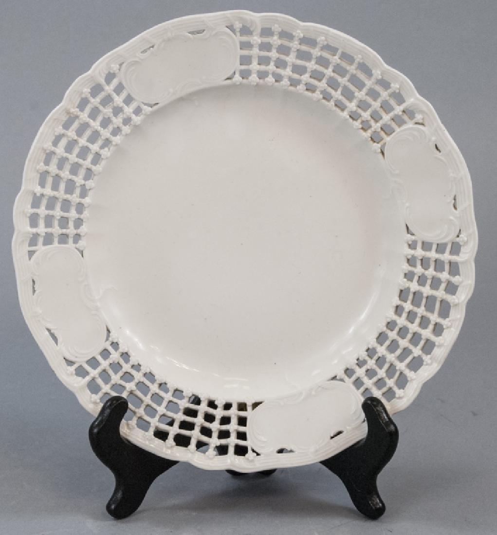 Antique 19th C KPM Porcelain Blanc de Chine Plate