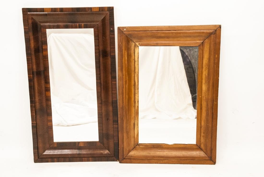 Two Ogee 19th Century Mirrors Federal Style