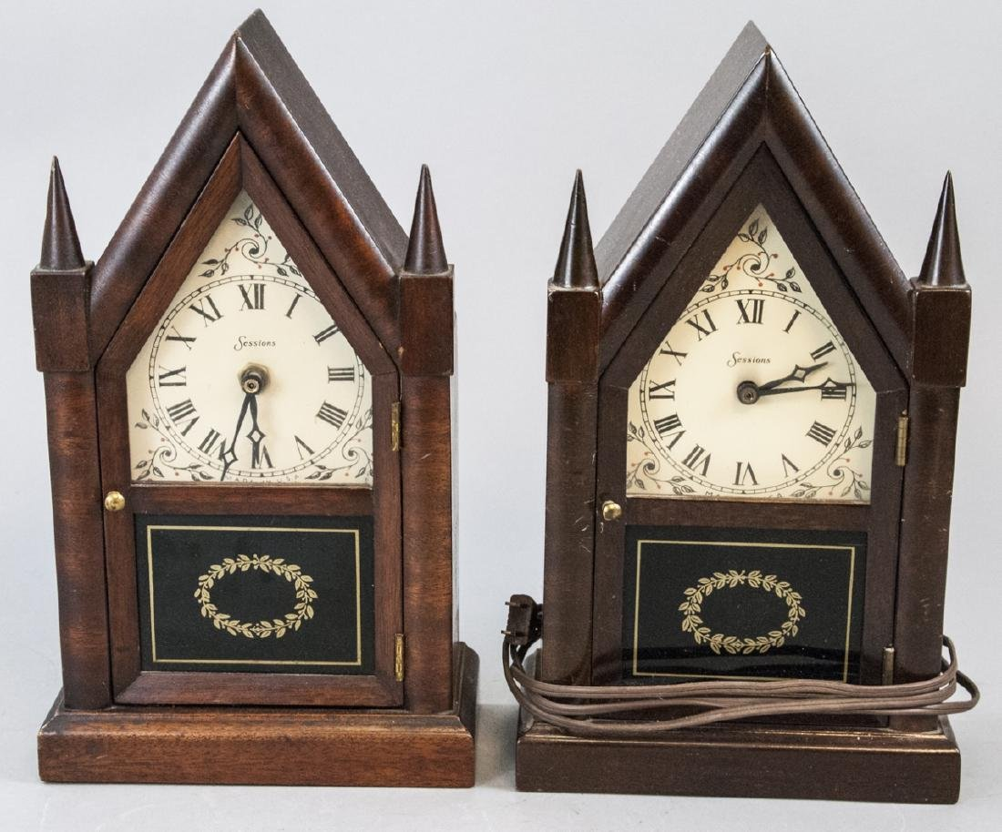 Two Vintage Sessions Electric Steeple Clocks