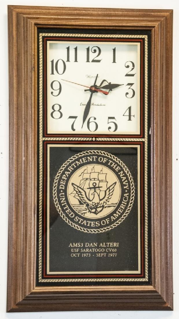 Vintage Hanover Navy Wall Hanging Clock
