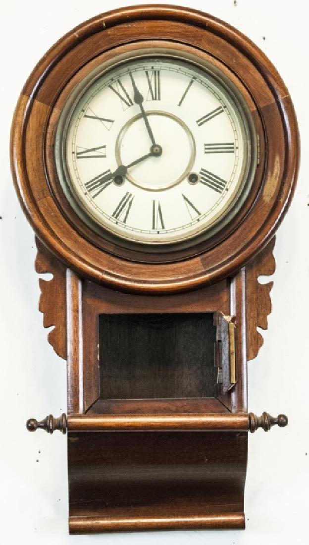 Unnamed Wooden Antique Regulator Wall Clock