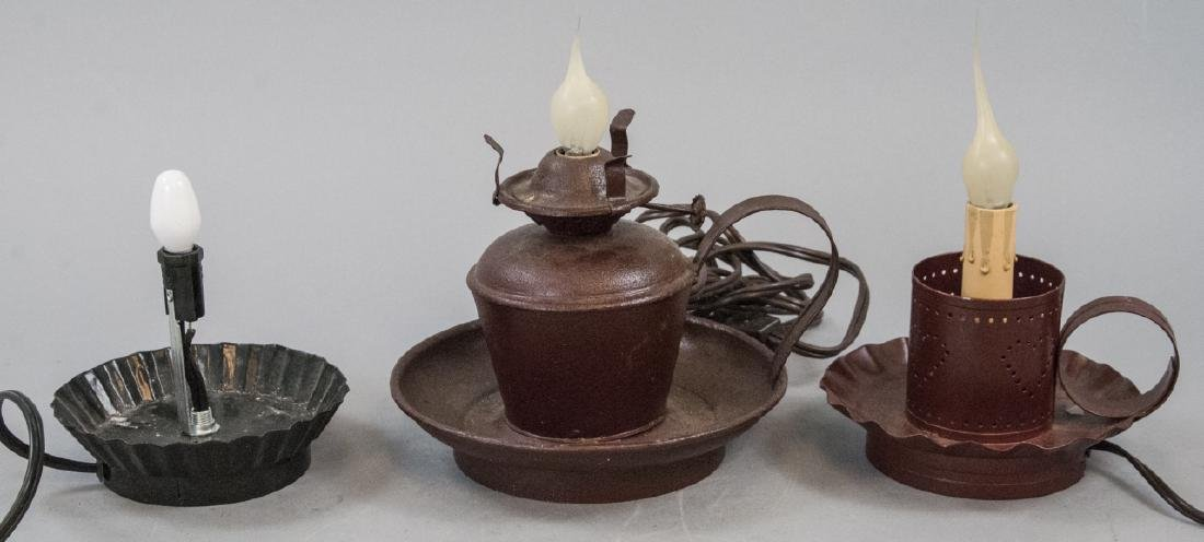 Assorted Lot Of Vintage Faux Candle Electric Lamps