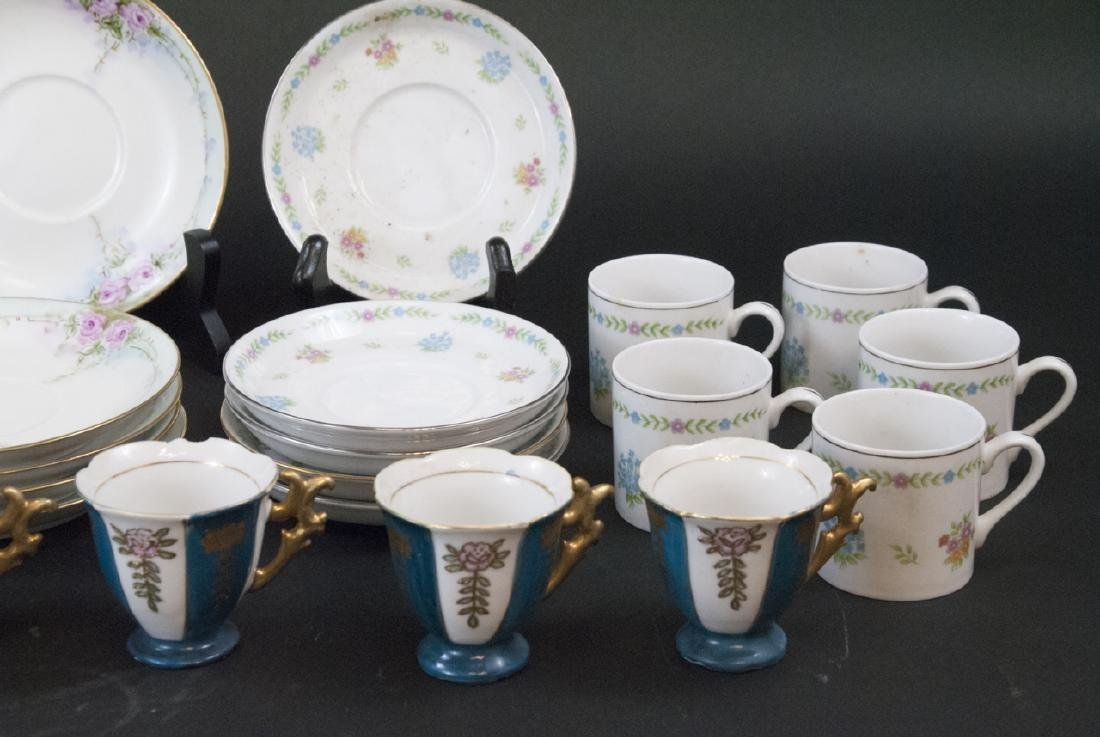 Two Sets Of Vintage Occupied Teacups & Saucers