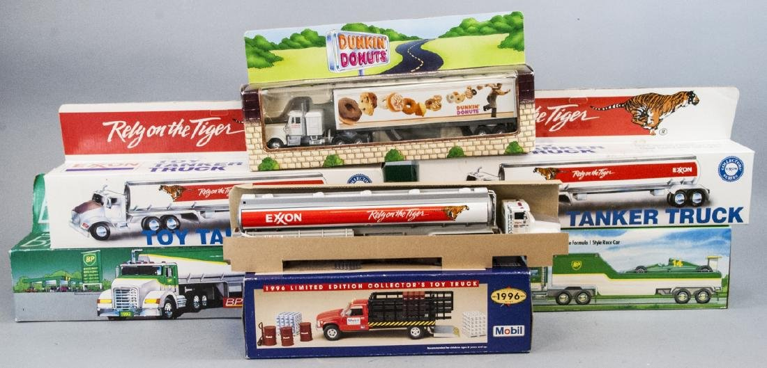 Assorted Lot Of Vintage Toy Tractor Trailers