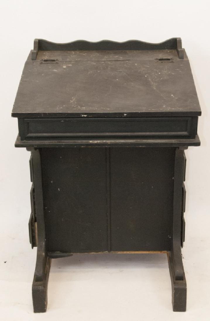 19th Century American Pine Slant Top Writing Desk