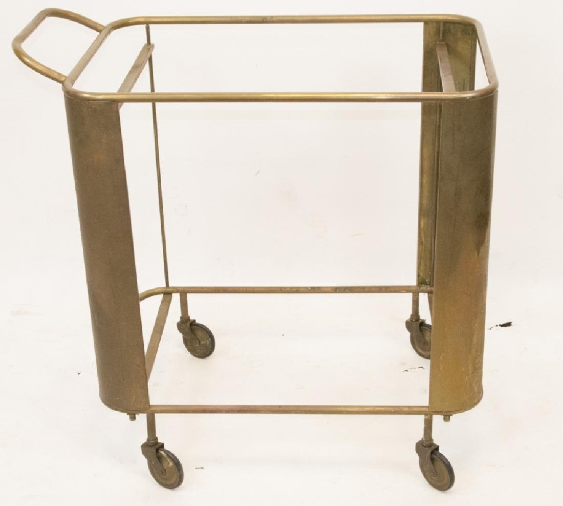 Vintage Brass Bar Cart Frame