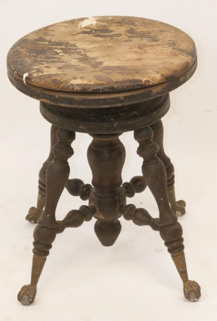 Antique Claw & Ball Footed Piano Stool