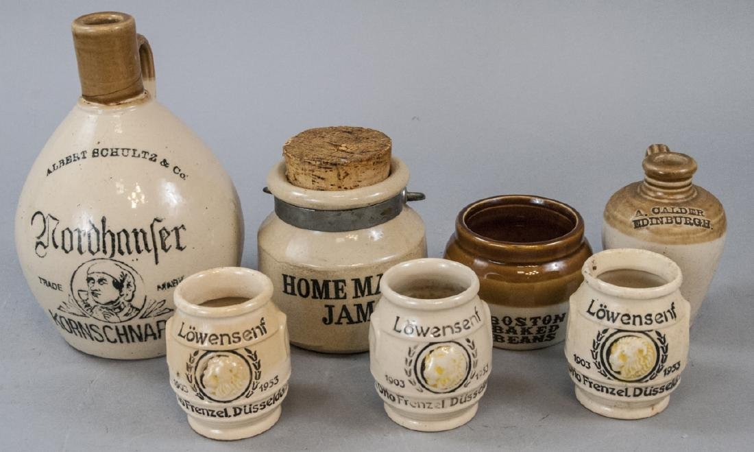 Assorted Vintage Stoneware Containers