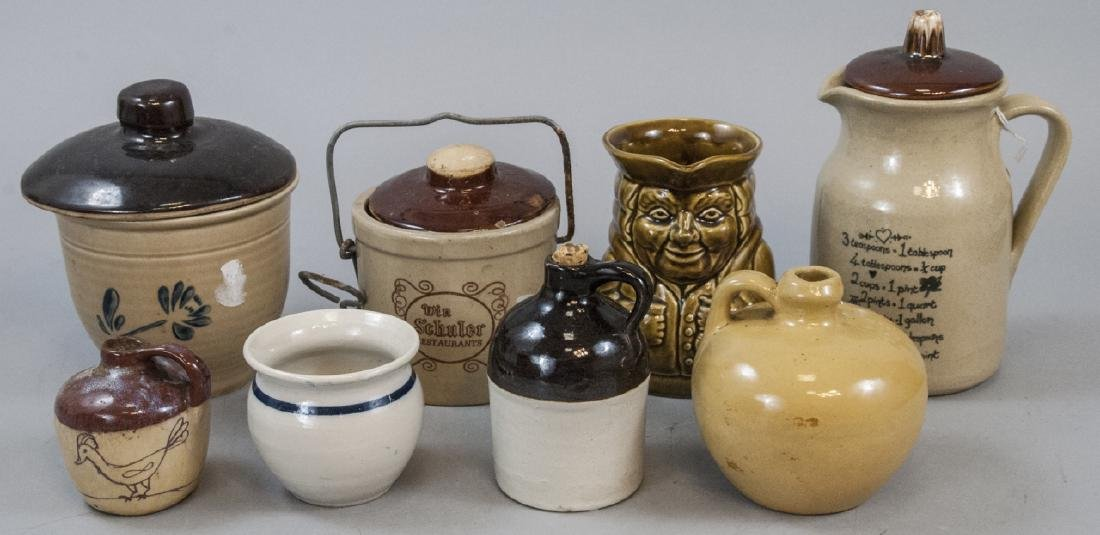 Assorted Lot Of Stoneware Containers & Dispensers