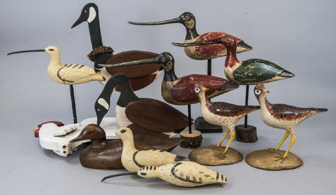 Assorted Lot Of Decoys & Decorative Bird Statues