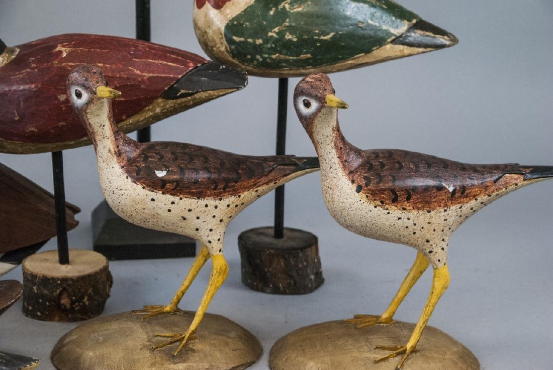 Assorted Lot Of Decoys & Decorative Bird Statues - 9