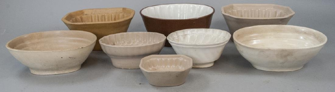 Antique Ironstone & Stoneware German Pudding Molds