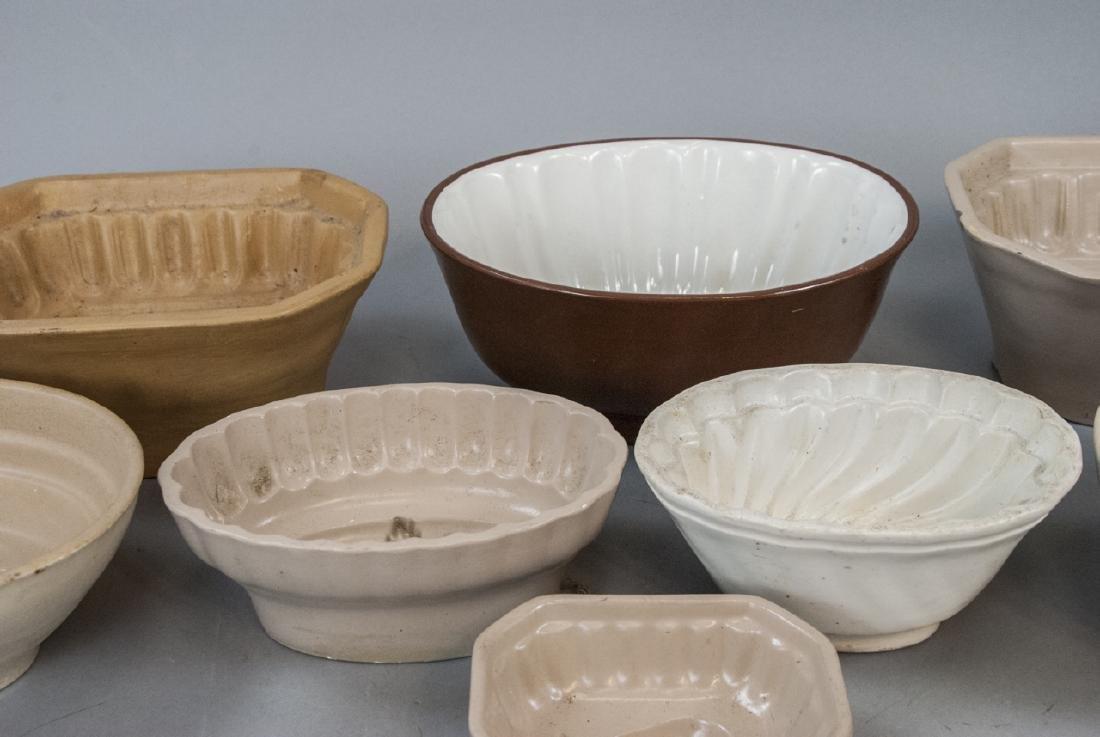Antique Ironstone & Stoneware German Pudding Molds - 3