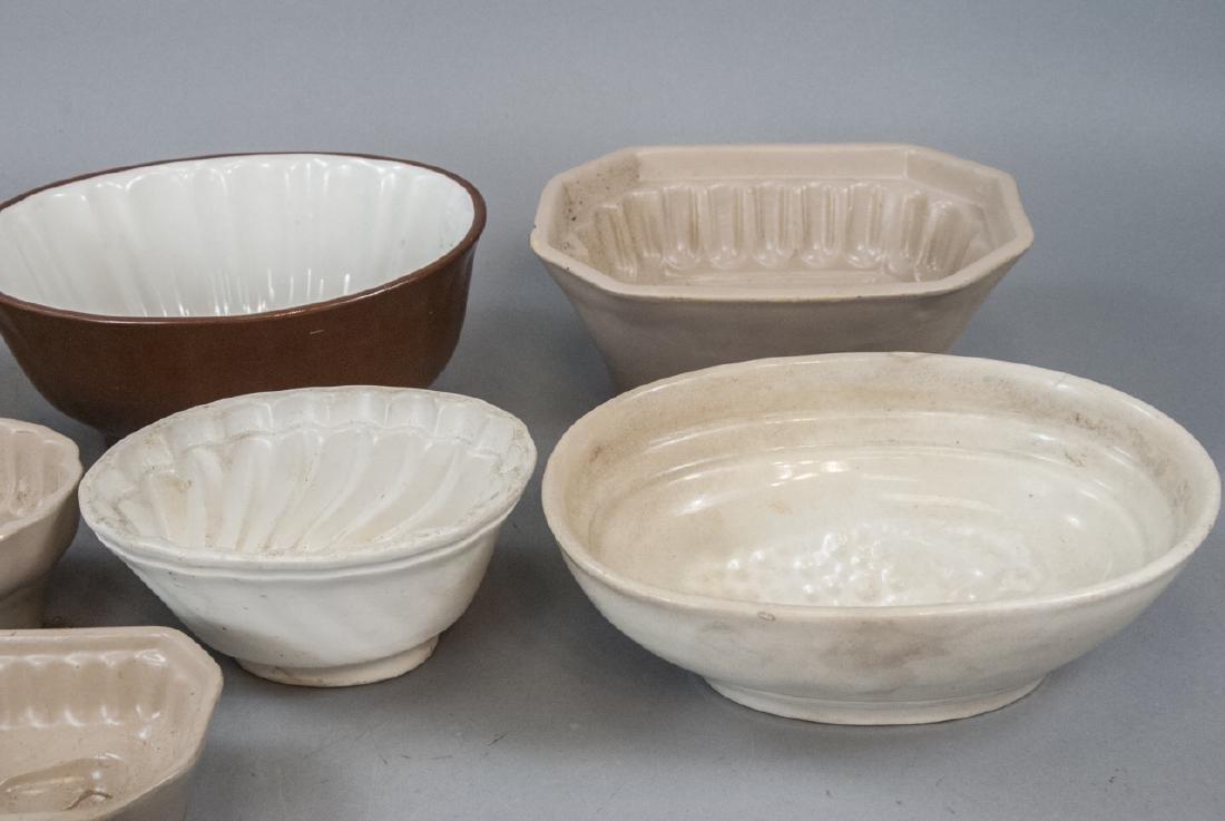 Antique Ironstone & Stoneware German Pudding Molds - 4