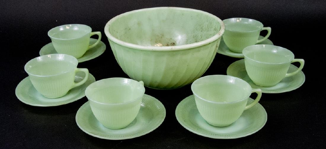 Assorted Lot Of Fire-King Jadeite Glassware