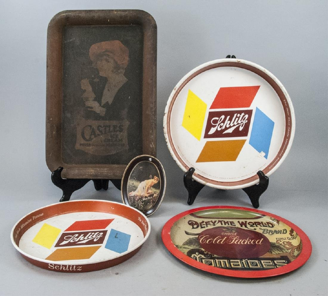 Assorted Lot Of Vintage Advertising Trays