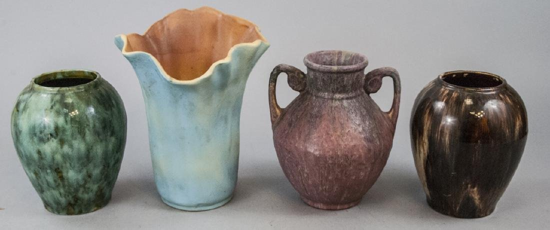 Four  Antique Art Pottery Vases