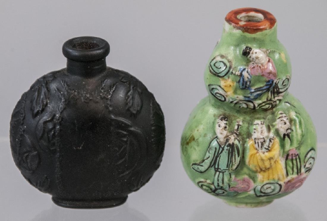 One French & One Asian Antique Snuff Bottles