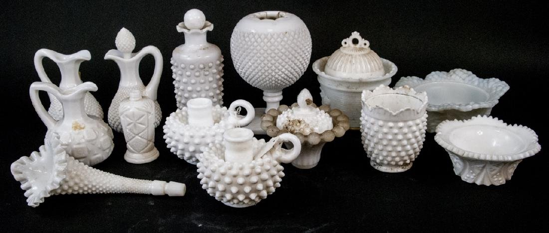 Lot Of Vintage Milk Glass Decorative Items