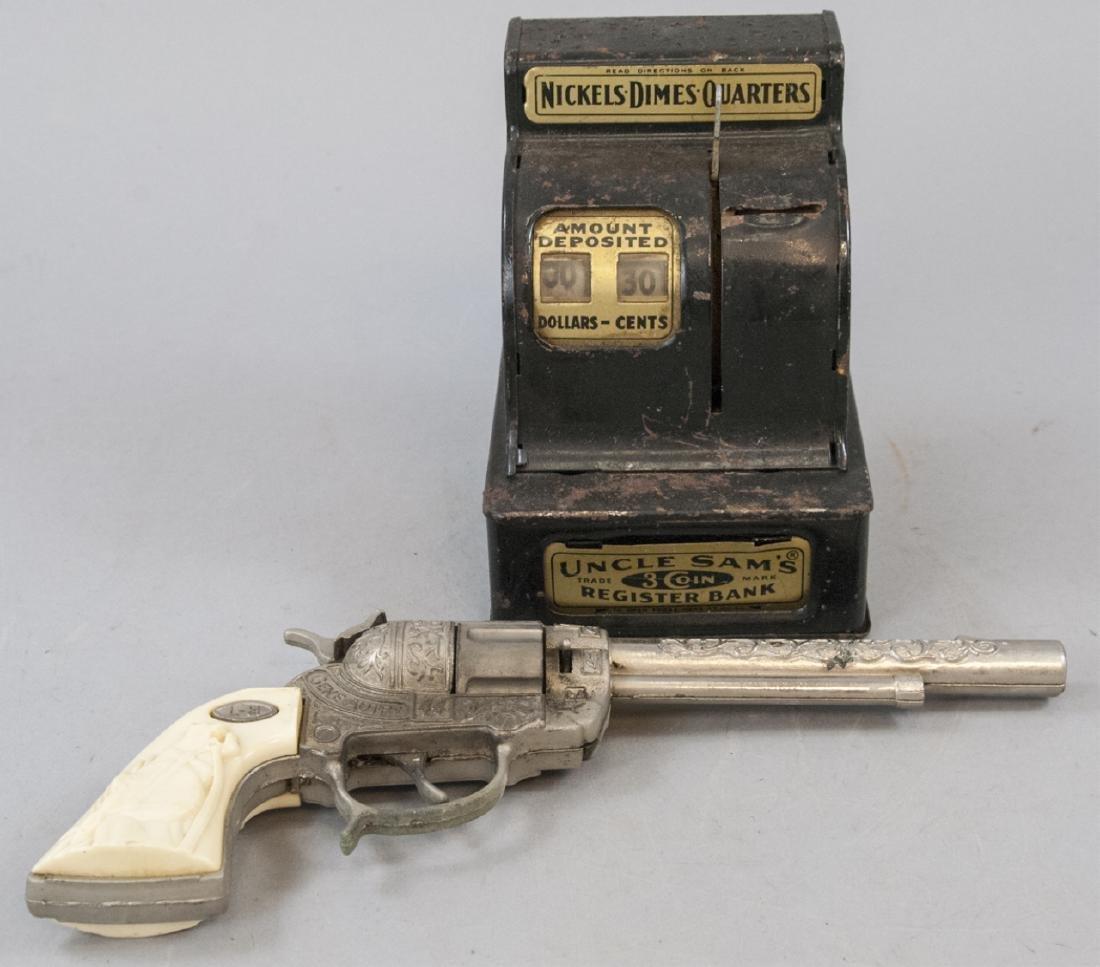 Antique Uncles Sams Registered Bank & Cap Gun