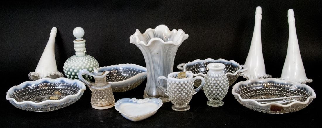 Assorted Lot Of Antique & Vintage Opalescent Glass