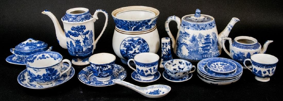 Lot Of Vintage & Antique Willow Ware China