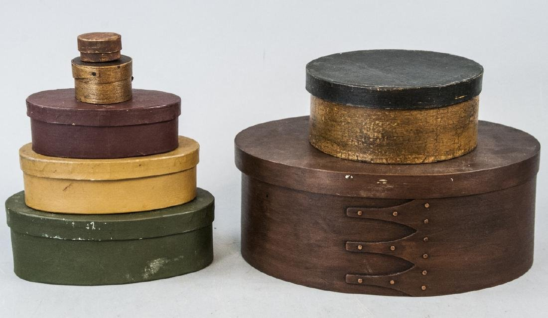 Three Vintage & Antique Shaker Style Boxes