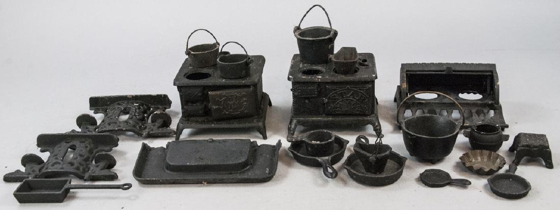 Lot Of Antique Cast Iron Salesman Sample Pieces