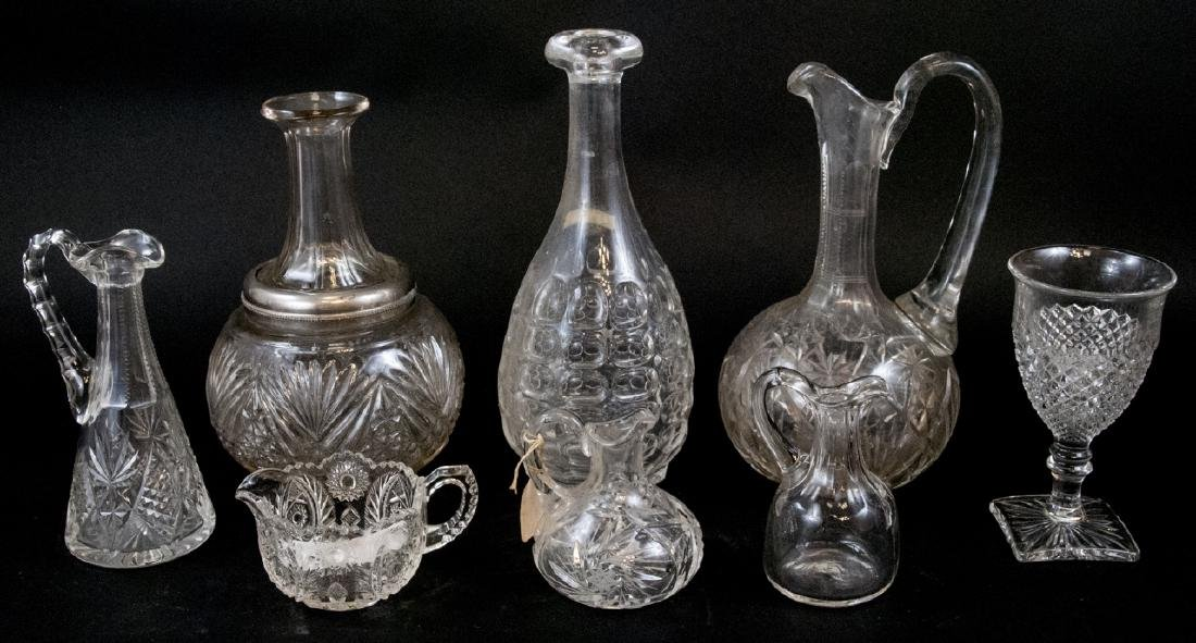 Lot Of Crystal & Cut Glass Decanters & Dispensers