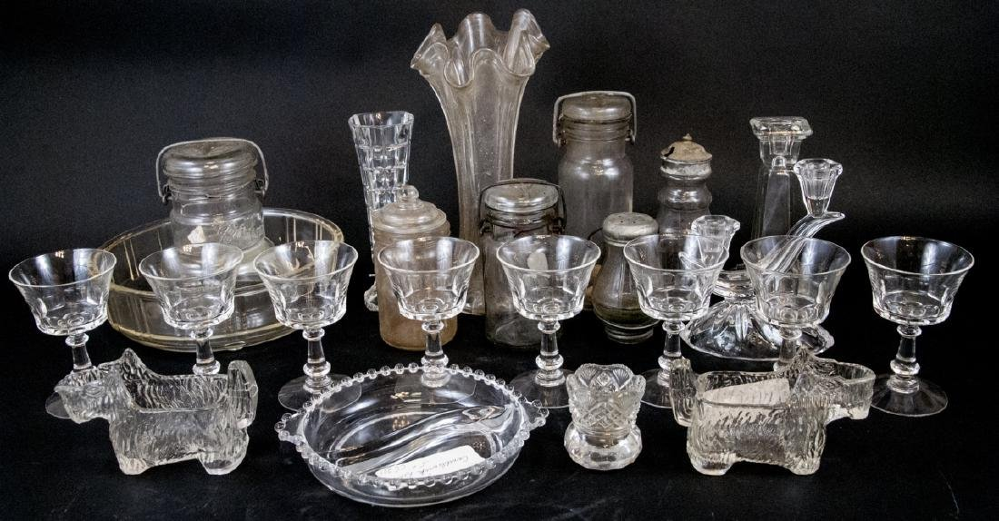 Assorted Lot Of Vintage Glass Home Items