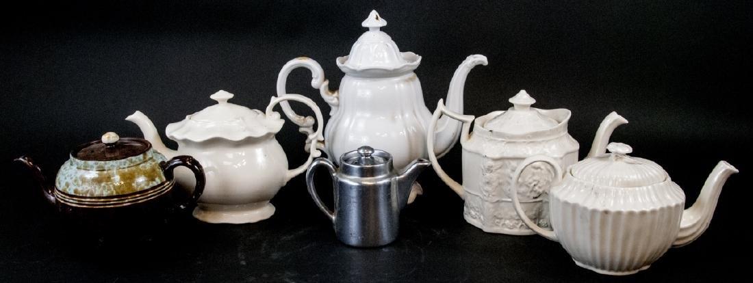 Six Vintage & Antique Porcelain Pitchers