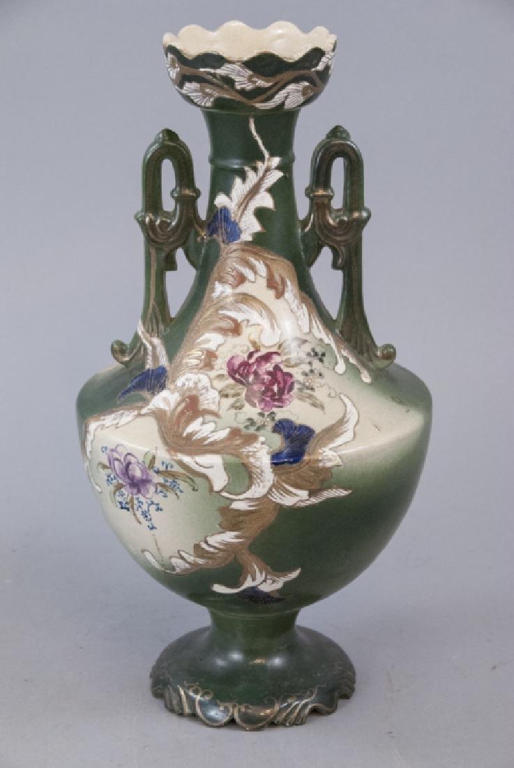 Art Nouveau Austrian Porcelain Amphora Vase