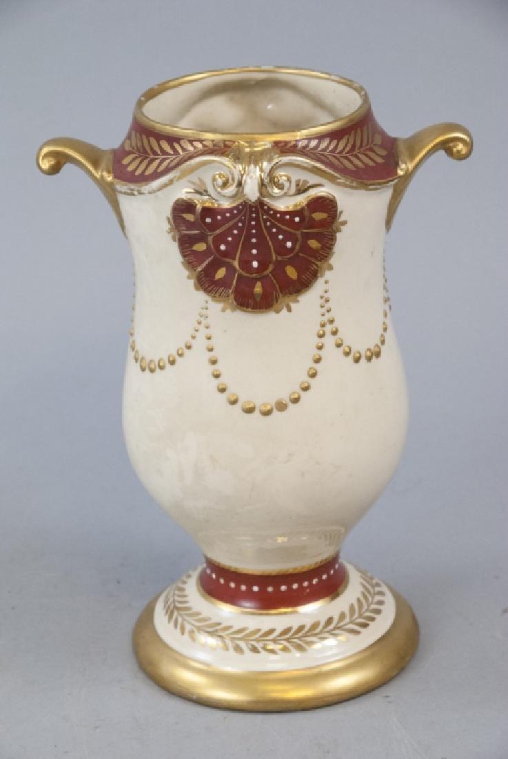 Vintage Eton China Amphora Vase Hand Painted