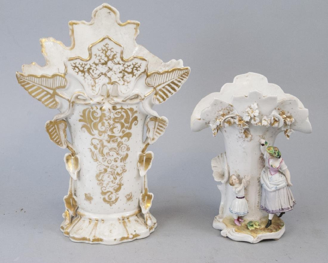 Paris Porcelain Style Vases Figural & Brides Vase