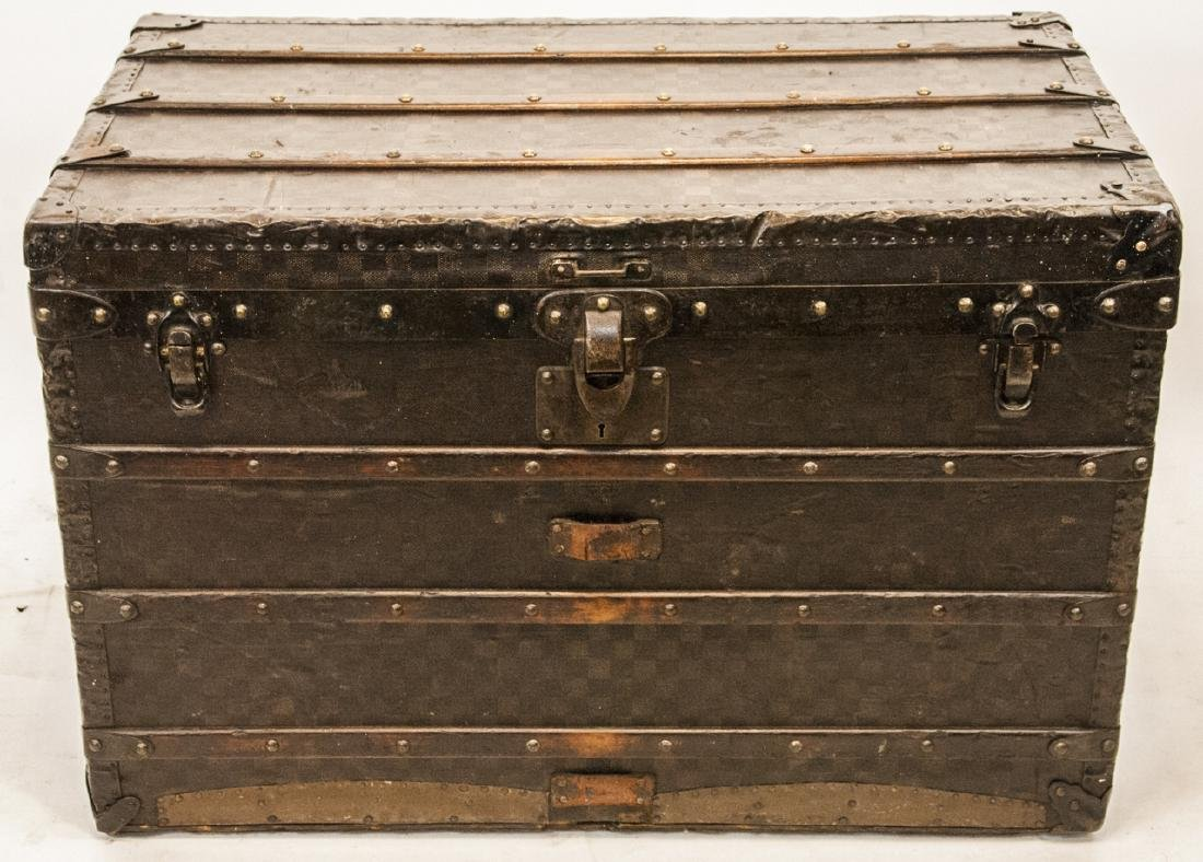 Antique Damier Pattern Louis Vuitton Steamer Trunk