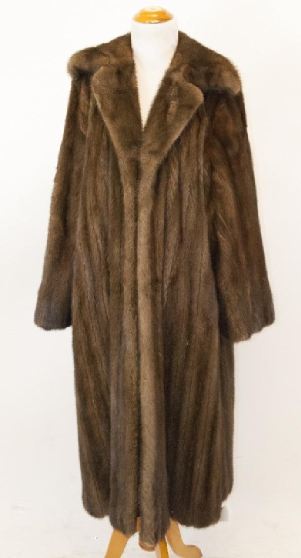 Vintage Brown Mink Ladies Full Length Coat