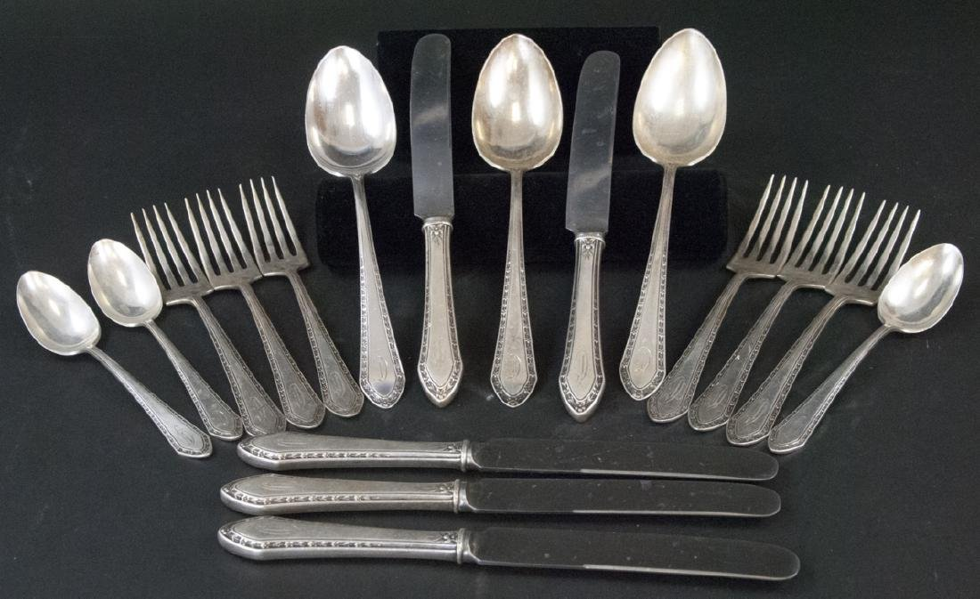 Partial Art Deco Sterling Silver Flatware Set