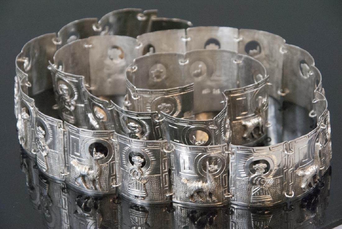 Vintage Handmade Peruvian Sterling Silver Belt