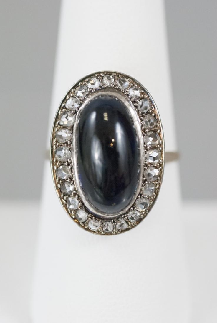 Estate Impressive 8 Carat Sapphire & Diamond Ring