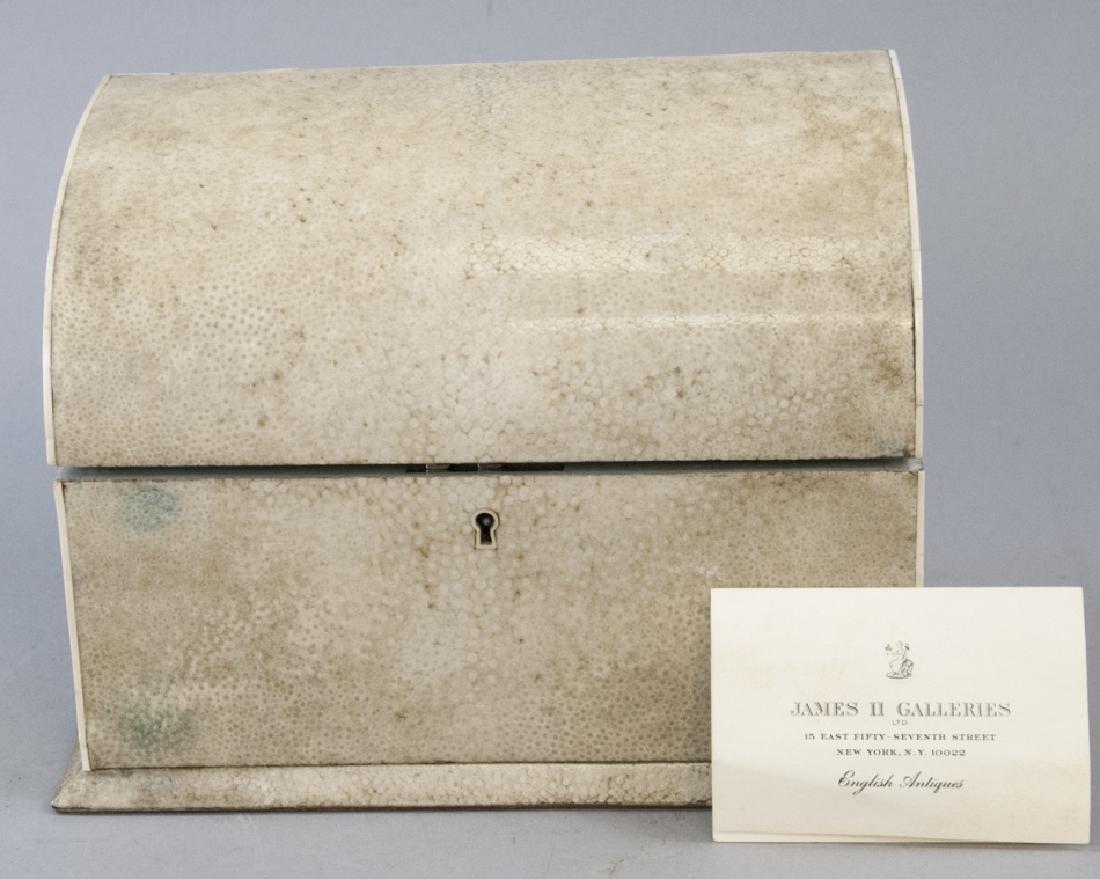 Antique Shagreen Shark Skin Letter or Desk Box