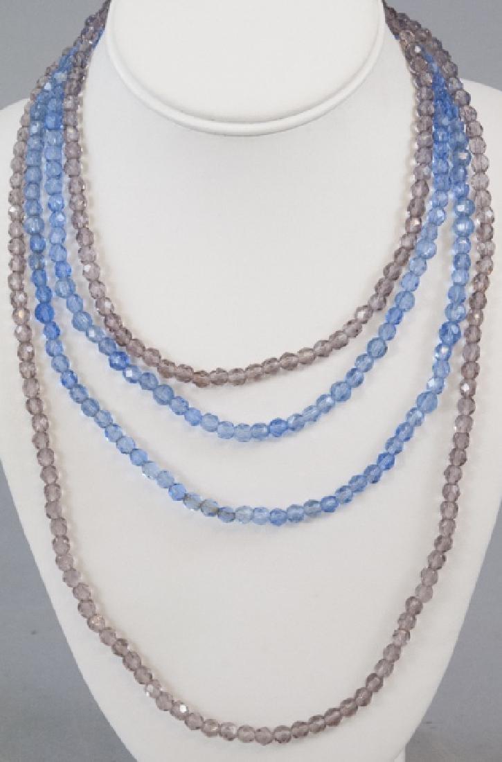 Two Antique Flapper Czech Glass Necklace Strands