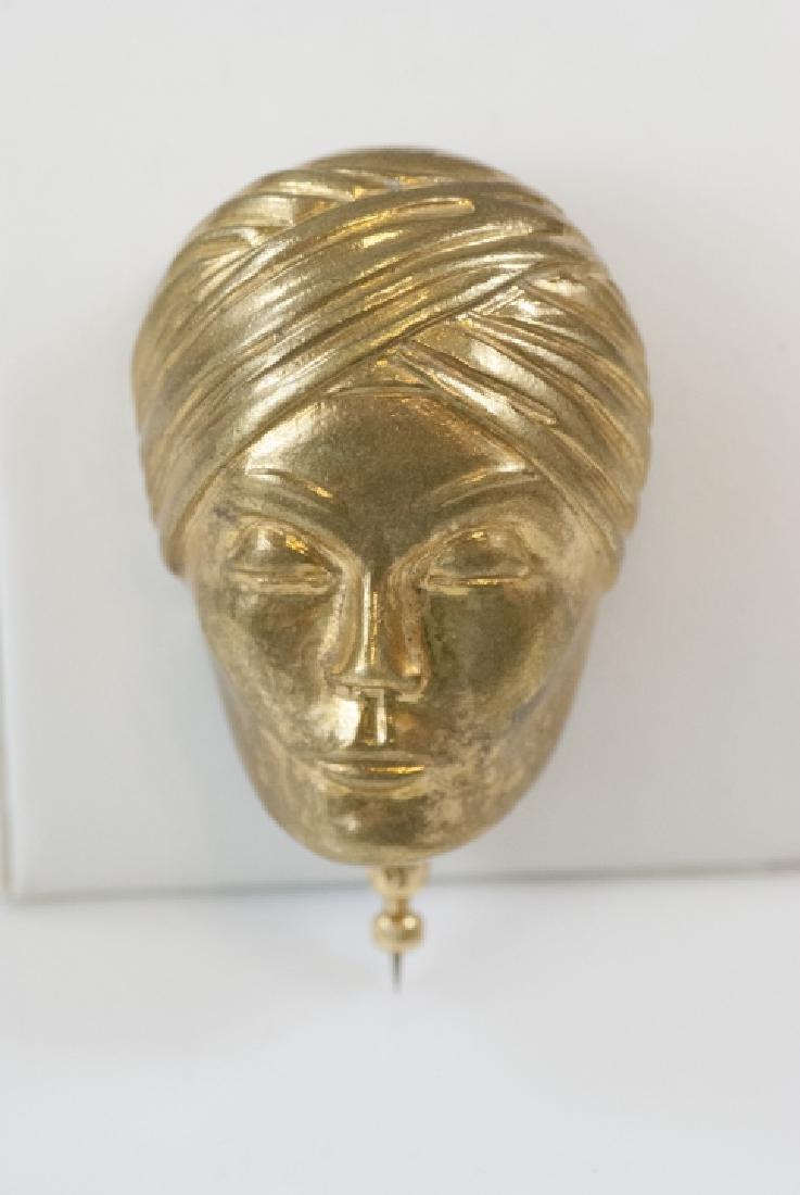 Vintage Isabel Canovas Gilt Ormolu Figural Brooch