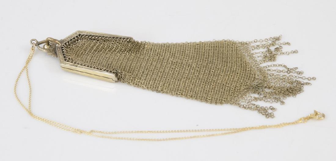 Antique Art Deco Whiting & Davis Purse Necklace