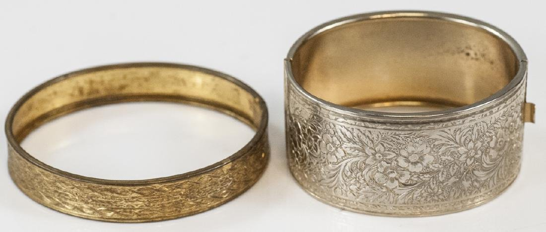 Two Antique Victorian Style Bangle Bracelets