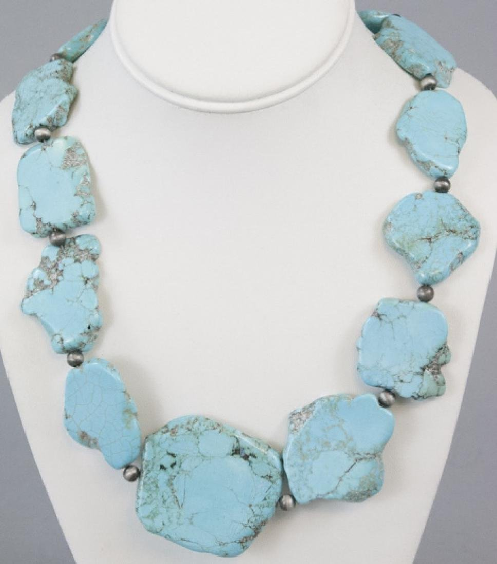Native American Style Tumbled Bead Necklace