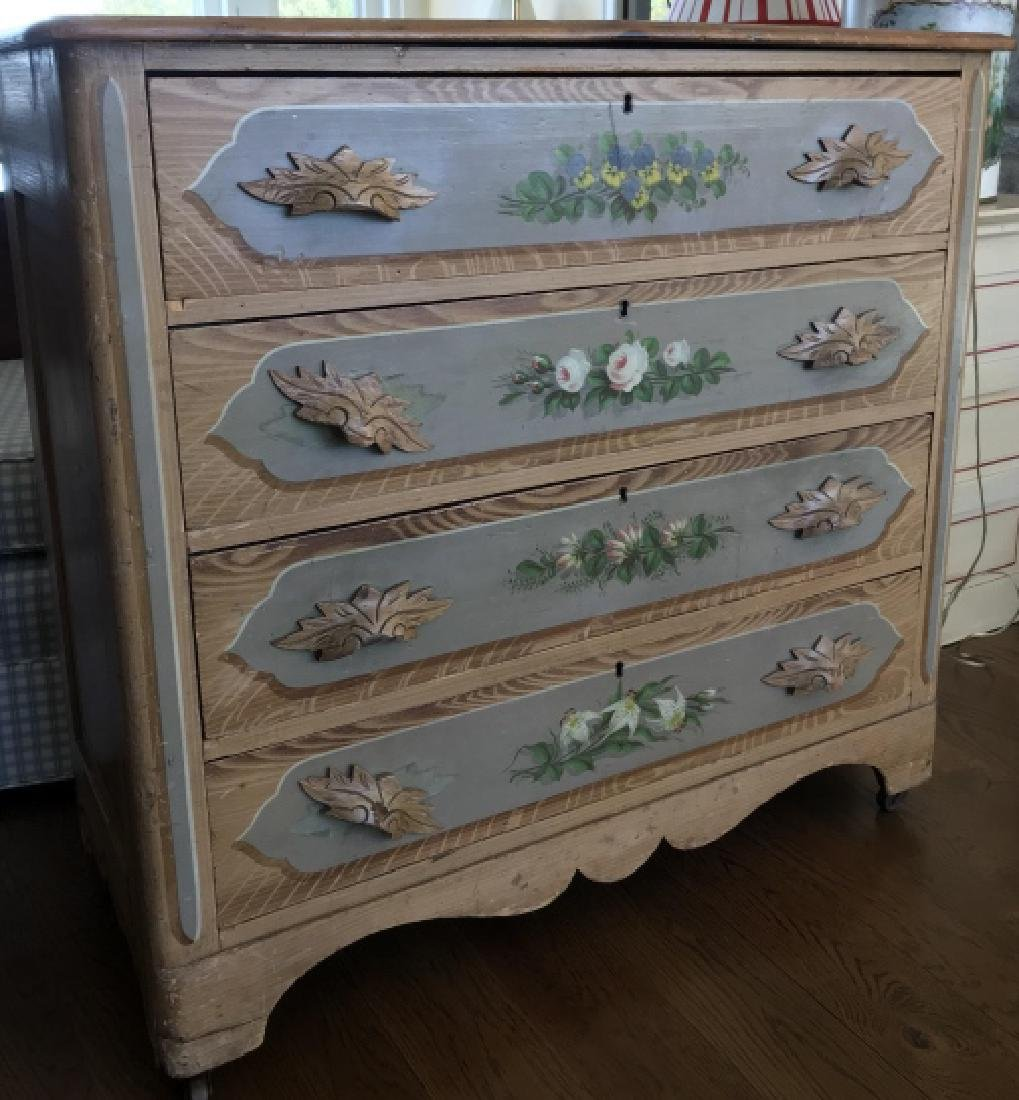 Antique 19th C Cottage Victorian Chest of Drawers
