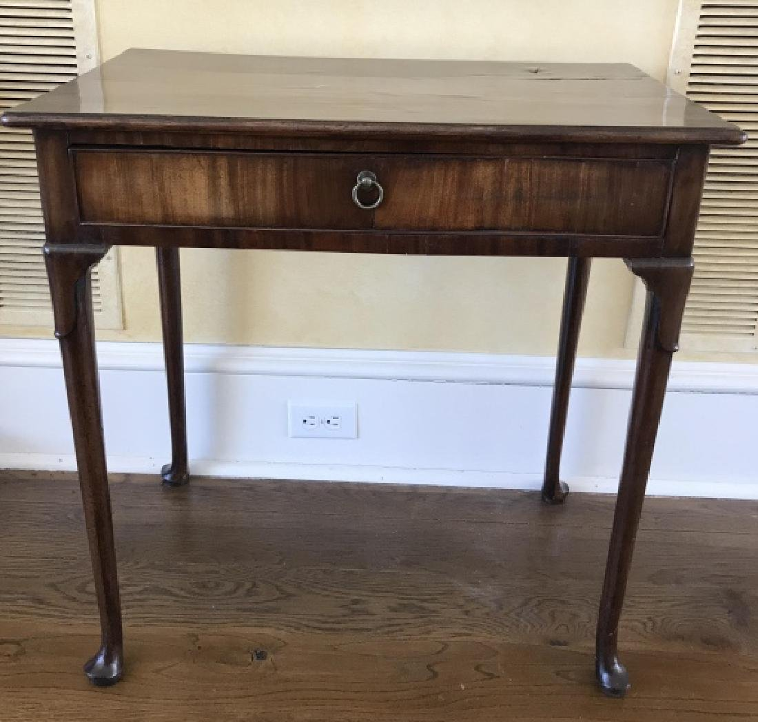 Antique English Queen Anne Style Console Table